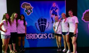 Real Salt Lake Women at the BRIDGES Cup Finals Launch. -Lagos 2015