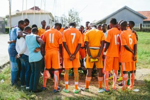 Getting ready for big match at BRIDGES Cup Semi-Finals. -Osun State 2013