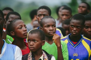 Big hopes and dreams of Nigerian youth during free community clinic hosted by Logan Lynx. -Osun State 2013